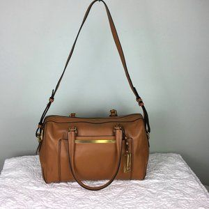 Calvin Klein Tan Leather Satchel Shoulder Bag